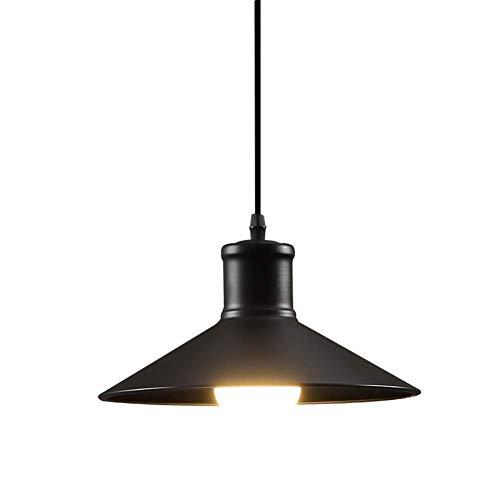 Simple de aluminio de la lámpara de la lámpara pendiente de la vendimia estilo Loft industrial, E27 restaurante de café de la barra, la suspensión de la cuerda 120cm 27cm