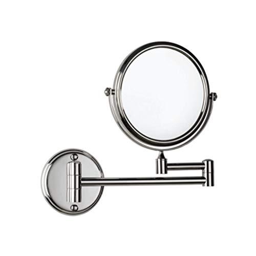 LyMei Vanity Mirror, Two-Sided Swivel An der Wand befestigte Spiegel-Round Shape Beauty Spiegel-Luxus Bad Spiegel-für Damen täglichen Make-up und Herren Rasieren,8inch