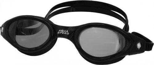 Aqua Speed® Schwimmbrille Pacific Goggle, 100% UVa/UVb, Antifog, Farbe:Schwarz-Getönt