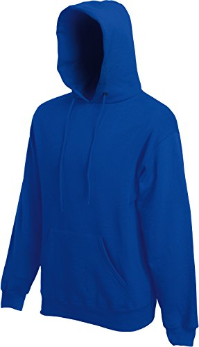 Fruit of the Loom Hooded Sweat Royal - S