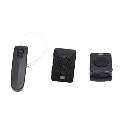 H HILABEE Auricular Bluetooth Walkie Talkie Auricular Portátil para Radio Bidireccional Walkie