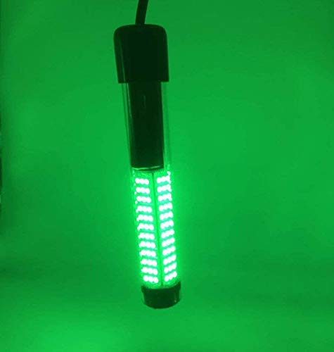 SAMDO Underwater Fishing Light Fish Light IP68 12V 180 SMD LED 1080 Lumens Fishing Boat Night Light 10.8W (Green)