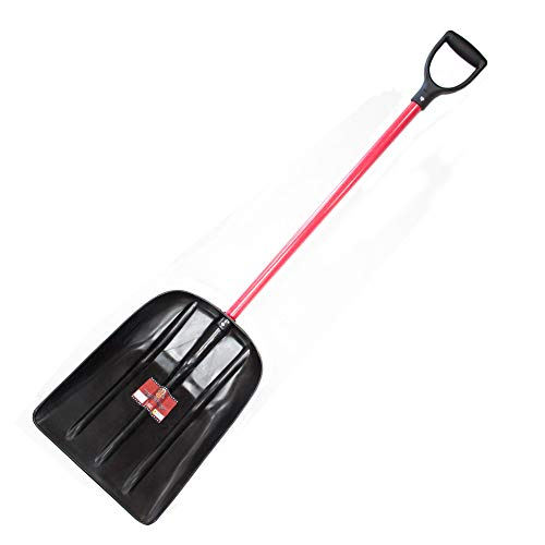 Bully Tools 92400 Mulch/Snow Bully Scoop with Fiberglass Handle and Poly D-Grip