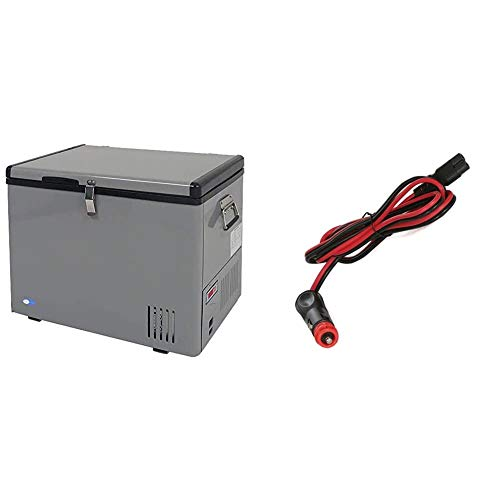 Whynter FM-45G 45 Quart Portable Refrigerator AC 110V/ DC 12V True Freezer, RV -8°F to 50°F, One Size, Gray & 10-Foot DC Power Supply Cord for Portable Refrigerator Models FM-45G, FM-65G and FM-85G