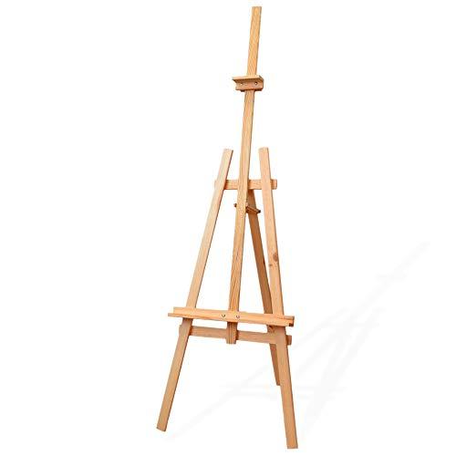 Staffelei holz groß Kinder - Leinwand Ständer Staffeleien für Maler aus Buchenholz 180 cm höhenverstellbar