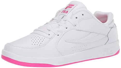 Fila Women's TN-83 Sneaker, WHT/WHT/PGLO, 7