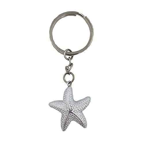 FASHIONCRAFT 6578 Brilliant Starfish Keychain, Beach Themed Favors, Wedding Favors, Baby Shower Favors, Set of 1