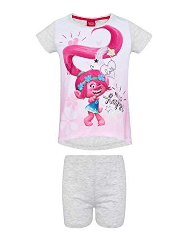 Les Trolls - Pijama - para niña blanco/gris 4 años