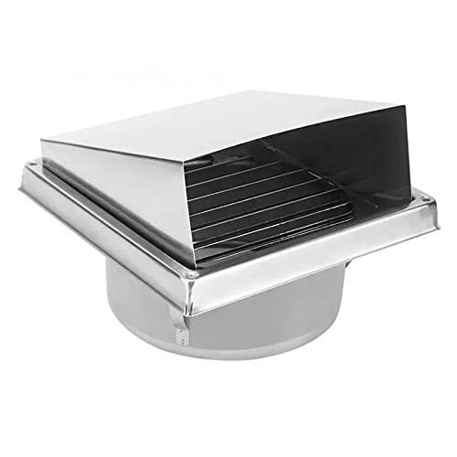 Campana de acero inoxidable de 100 mm, orificios de ventilación, salidas cuadradas, campana extractora, rejilla de cocina, campana extractora, campana extractora con solapas externas