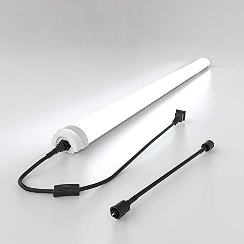 4ft llevó el accesorio de luz de techo, llevó la luz del día de la tienda 36w 5000k, impermeable, linkable llevó la luz del tubo para el garaje