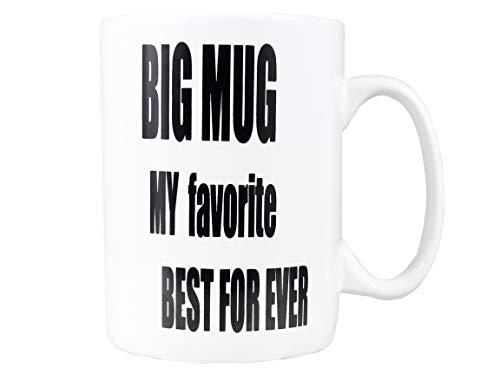 Bycnzb 30oz Super Large Ceramic Coffee Mugs Large Handles BIG MUG MY favorite BEST FOR EVER (white)