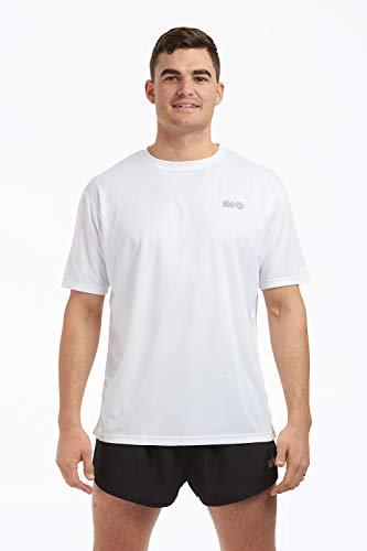 Time To Run Haut Tee-Shirt de Running/Courir/Gym/Exercice préféré à Manches Courtes pour Hommes M Blanc
