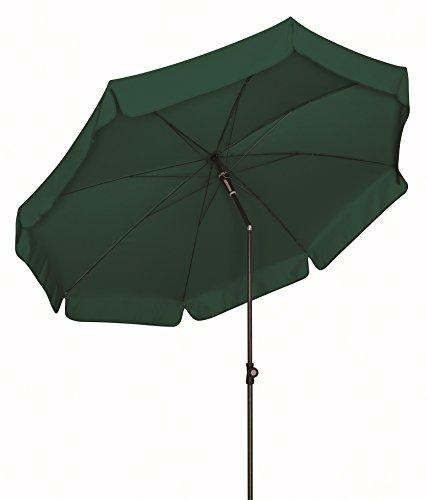 Doppler Absolut wetterfester Gartenschirm Sun Line III 200 UV-Schutz 50 Plus, Farbe dunkelgrün