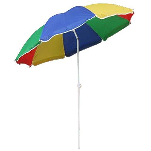 Land-Haus-Shop Sonnenschirm, Strandschirm bunt, Schirm Regenbogen Farben, Balkon Schirm (LHS)