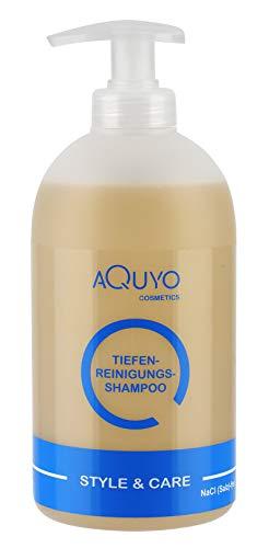Style & Care Tiefenreinigung Shampoo zur Haarpflege, entfernt Klebereste und Rückstände aus dem Haar (500ml)   Reinigungsshampoo und Pflegeshampoo ein Einem   ohne Silikone, Salze oder Parabene