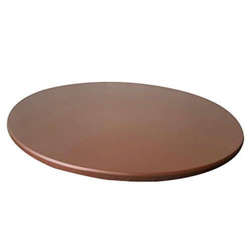 Fityle Waterproof Anti-Slip Round Table Cloth,Plastic Table Covers,Table Protector,Round Tablecloth,Easter Table Cloths Outdoor Tablecloth Round Plastic Tablecloth (Coffee, (48 inch))