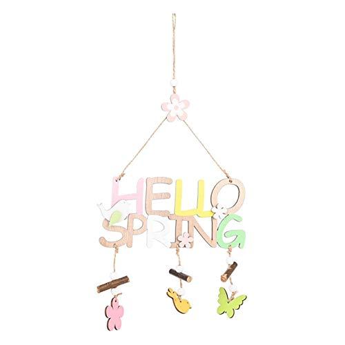 crazerop Frohe Ostern Türschild Schriftzug Holz Deko Hängen Ornamente, Dekorative Türhänger Wanddeko Fensterdeko Für Haus Büro Holiday Party Dekoration