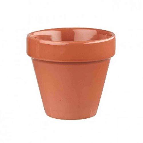 Visiodirect Lot de 6 Pots Verrines Terracotta en Porcelaine 48 cl