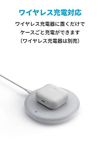 AnkerSoundcoreLibertyAir2(完全ワイヤレスイヤホンBluetooth5.0)【IPX5防水規格/最大28時間音楽再生/ワイヤレス充電対応/HearID機能/Qualcomm®aptX™/cVc8.0ノイズキャンセリング/マイク内蔵/PSE認証済】ホワイト