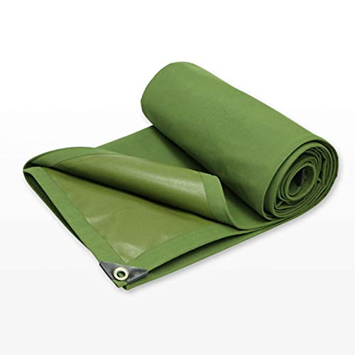Gymqian Tarps Green Pesiones Autoria Abajo a Prueba de Agua Sombra de Tela de Recubrimiento Portátil Lona de Silicona 3,8 × 5.8M Durable/Green / 2.8×4.8m