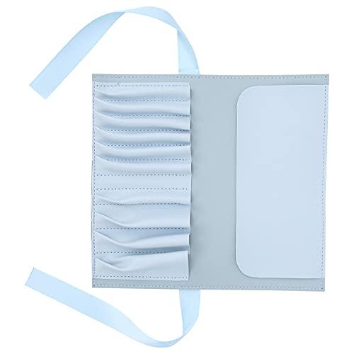 Wosune Bolso del Cepillo del Maquillaje, Organizador Duradero Azul del Cepillo del Maquillaje para el Uso doméstico para el Uso del Viaje