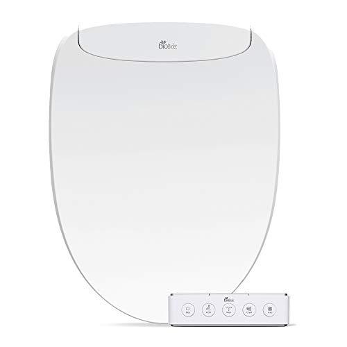 BioBidet Discovery DLS Elongated Smart Low-Profile Bidet Toilet Seat | Auto Open/Close | Warm Air Dryer | Wireless Remote Control | Nightlight