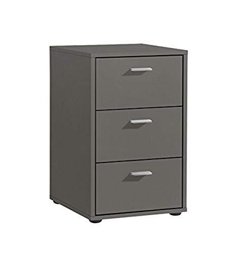 FMD Möbel Virginia 1 Nachtkonsole, Holz, Lava, 35 x 40 x 62.5 cm