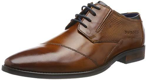 bugatti 312164142100, Zapatos de Cordones Derby Hombre, Marrón (Cognac 6300), 42 EU