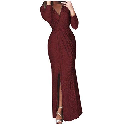 LUCKYCAT Lentejuelas Vestido Fiesta Mujer Boda Vestidos Casual Vestidos De Mujer Primavera Vestidos Largo De Elegante Moda Mujer 2020 Vestidos Niña Verano Vestidos Mujer Madrina Ceremonia