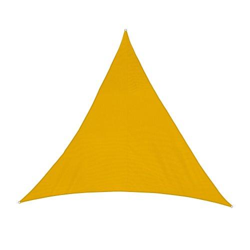 jarolift Sonnensegel Dreieck wasserabweisend 400 x 400 x 400 cm gelb