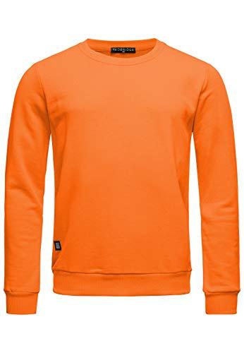 Red Bridge Herren Crewneck Sweatshirt Pullover Premium Basic,Orange-ii,M
