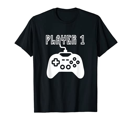 Player 1 Matching Video Game Costume Gift For Gamers Camiseta