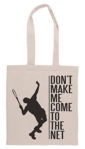 Luxogo Tennis - Dont Make Me Come to The Net Einkaufstasche Groceries Beige Shopping Bag