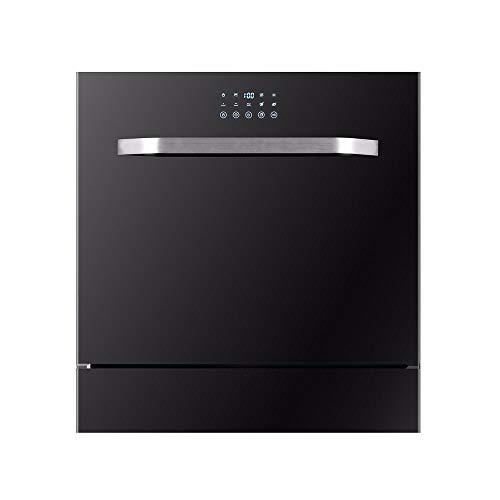LAMCE Lave Vaisselle encastrable WQP8-9306 - Lave Vaisselle encastrable 60 cm,Lave Vaisselle integrable - Classe A+ / 51 decibels - 14 Couverts - INOX Bandeau : INOX et Noir Black