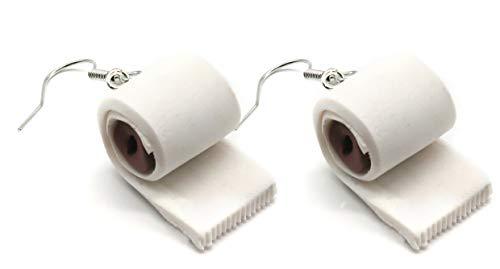 Ohrringe Modell 3 Toilettenpapier Ohrhänger Klopapier handmade