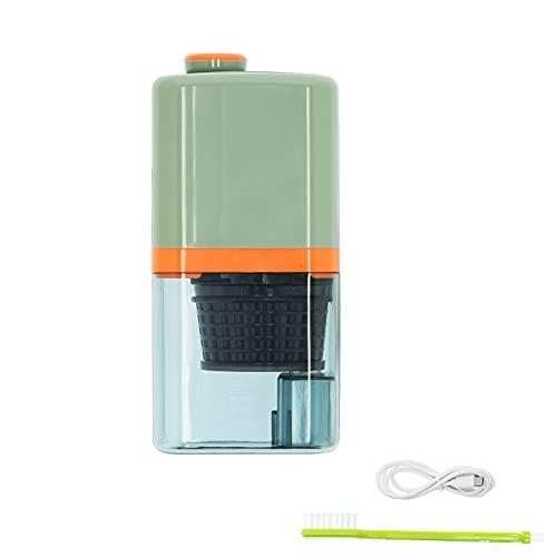 Exprimidor extractor de jugo de baja velocidad mini exprimidor eléctrico portátil para uso doméstico en la cocina verde