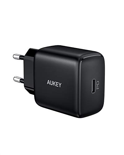 AUKEY Cargador de 20 W para iPhone 12 USB C PD 3.0 y QC 3.0, Cargador Rápido de iPhone para iPhone 11 Pro MAX Mini SE XR, Galaxy, Pixel, iPad Pro Air Mini, Switch, Kindle