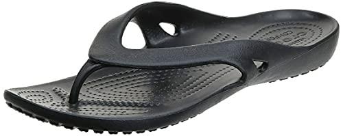 Crocs Kadee II Flip Flops | Sandals for Women, Black, 9