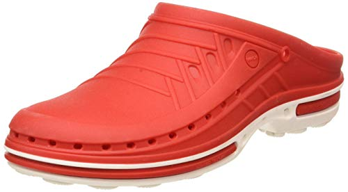 WOCK Clog Or, Zoccoli Unisex-Adulto, Rosso (Weiss/Rot 4501030/35), 35/36 EU