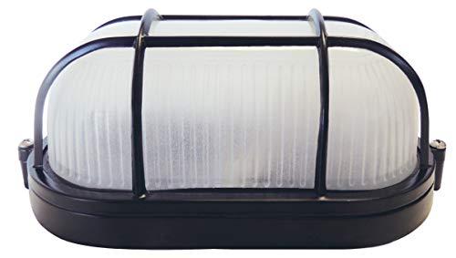Luminária Tartaruga Foxlux - Cor: Preta - Bocal E-27 - Uso interno e externo - Resistente à corrosão - Pintura epóxi - Corpo em alumínio injetado - Bivolt - IP54: resistente às intempéries