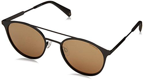 Polaroid PLD 2052/S LM 807 Gafas de sol, Negro (Black/Grey Goldmir Pz), 51 Unisex Adulto