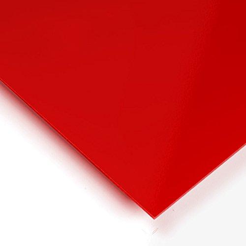 Metracrilato Plancha Din A5 Medidas 14,8cm x 21cm Grueso 3mm Color rojo ferrari