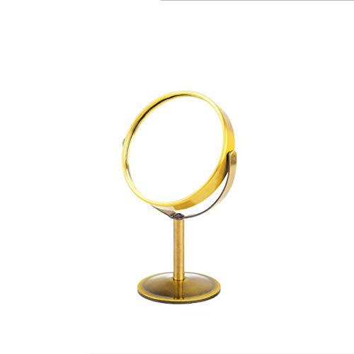 Desktop Kleiner Spiegel High-end Hersteller HD Doppelseitiger Desktop-Kosmetikspiegel Bronze-Spiegel Kosmetikspiegel (Form : Kreis)