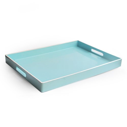 American Atelier Rectangular Tray with Handle Teal