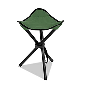 Folding Tripod Stool Messar Portable Stable Travel Chair Tri-Leg Stool for Outdoor Travel Camping Fishing Hiking Mountaineering Gardening - Mini Size  Green