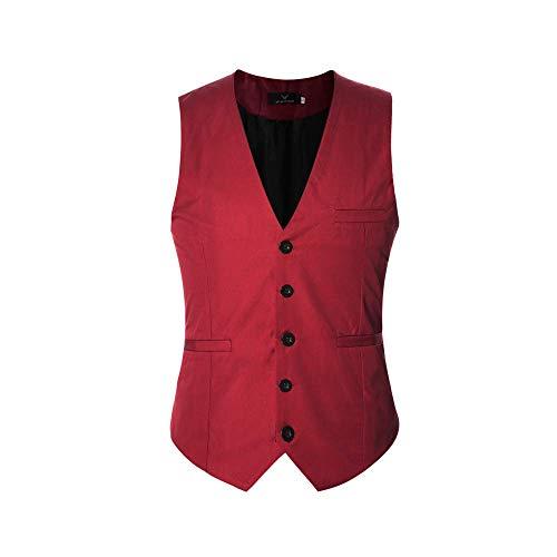 Herren Anzugweste Elegant Basic Weste Stilvoll Vest Regular Design