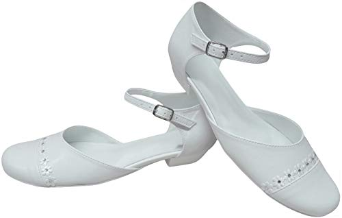 deine-Brautmode Kommunionschuhe Schuhe Kommunion Festliche Kinderschuhe, Strassblümchen 35