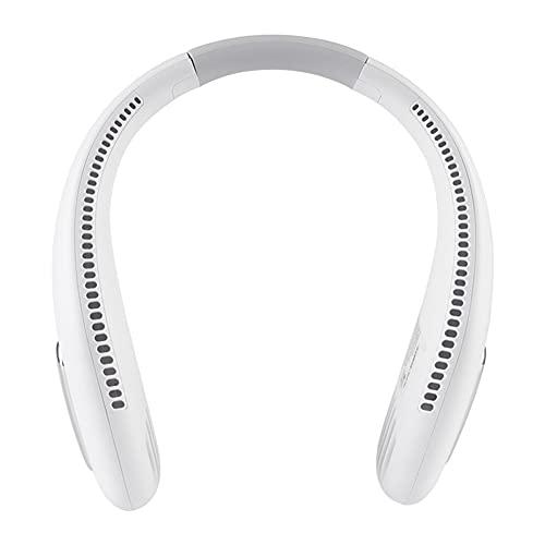 Ventilador Personal Para Colgar En El Cuello, Mini Ventiladores Recargables USB Sin Cuchillas, Ventilador Portátil De Enfriamiento, Ventilador Portátil Ajustable De 3 Velocidades, Ventil(Color:blanco)