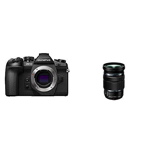 Olympus OM-D E-M1 Mark II, Micro Four Thirds Systemkamera, 20.4 Megapixel, 5-Achsen Bildstabilisator, schwarz & M. Zuiko Digital ED 12-100mm F4 is Pro Objektiv, geeignet für alle MFT-Kameras