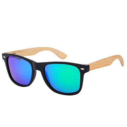 Malvarrosa Sunglasses Terra Gafas de sol, Negro/Bambú/Azul, 48 Unisex
